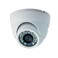 OP-VC-CA-HTDR8010W HD-TVI/Analog-960H 2MP/1080p Small IR Dome OV2710 CMOS 3.6mm, 23IR-LED at 65ft, IP66, White
