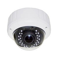 VC-CA-HTDR8600W HD-TVI 2MP/1080p Sony322 CMOS, VD Dome, VF 2.8-12mm, 30 x IR LED @ 82ft, IP66, AGC, AES, OSD, 12vDC, White
