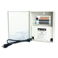 OP-W-12VDC-9P-10A 12VDC/10Amps 9PTC OUTPUT CCTV DISTRIBUTED POWER SUPPLY