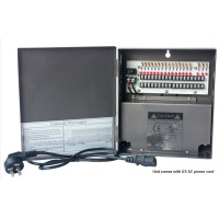 OP-W-UL12VDC-18P-10A 12VDC/10Amps 18 PTC OUTPUT CCTV DISTRIBUTED POWER SUPPLY <UL LISTED>