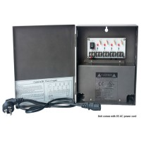 OP-W-UL12VDC-4P-5A 12VDC/5Amps 4 PTC OUTPUT CCTV DISTRIBUTED POWER SUPPLY